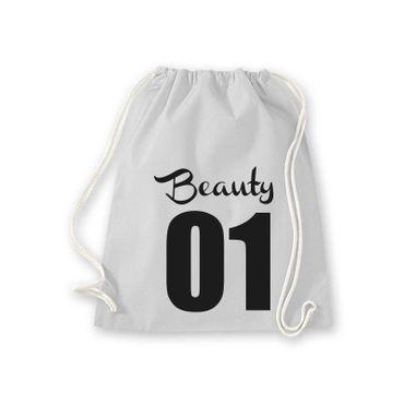 Turnbeutel Beauty 01 Freundin Geschenk Schultasche Gym Sack Bag Fun 11 Farben – Bild 6