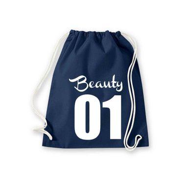 Turnbeutel Beauty 01 Freundin Geschenk Schultasche Gym Sack Bag Fun 11 Farben – Bild 7
