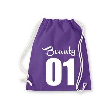 Turnbeutel Beauty 01 Freundin Geschenk Schultasche Gym Sack Bag Fun 11 Farben – Bild 11