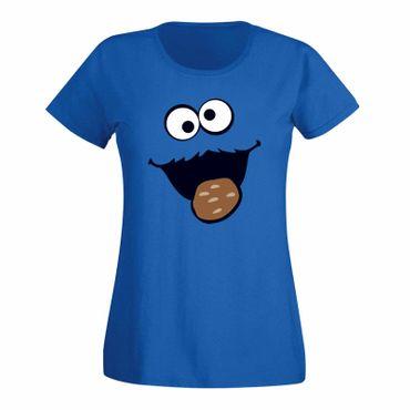 T-Shirt Krümelmonster Kekse Karneval Fasching Sesamstraße 15 Farben Damen XS-3XL – Bild 1