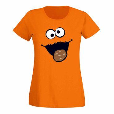 T-Shirt Krümelmonster Kekse Karneval Fasching Sesamstraße 15 Farben Damen XS-3XL – Bild 16