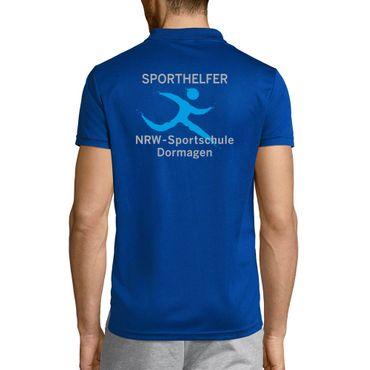 """Sport-Poloshirt """"BvS / Sportschule NRW SPORTHELFER""""  Herren S bis 3XL – Bild 3"""