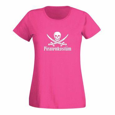 T-Shirt Piratenkostüm Karneval Totenkopf Gruppenkostüm Damen 15 Farben XS - 3XL – Bild 5