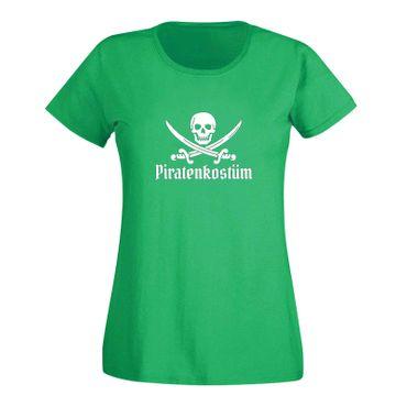 T-Shirt Piratenkostüm Karneval Totenkopf Gruppenkostüm Damen 15 Farben XS - 3XL – Bild 9