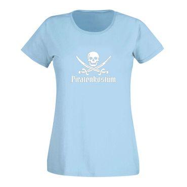 T-Shirt Piratenkostüm Karneval Totenkopf Gruppenkostüm Damen 15 Farben XS - 3XL – Bild 13