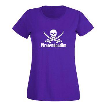 T-Shirt Piratenkostüm Karneval Totenkopf Gruppenkostüm Damen 15 Farben XS - 3XL – Bild 14