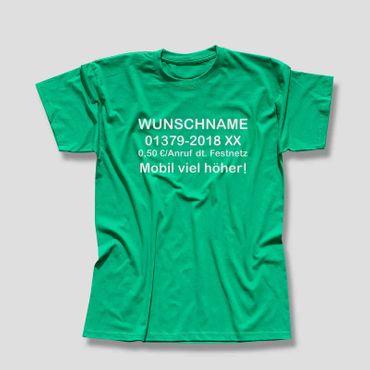 T-Shirt Dschungelcamp Wunschname Telefonnummer Kostüm JGA 13 Farben Men XS - 5XL – Bild 12