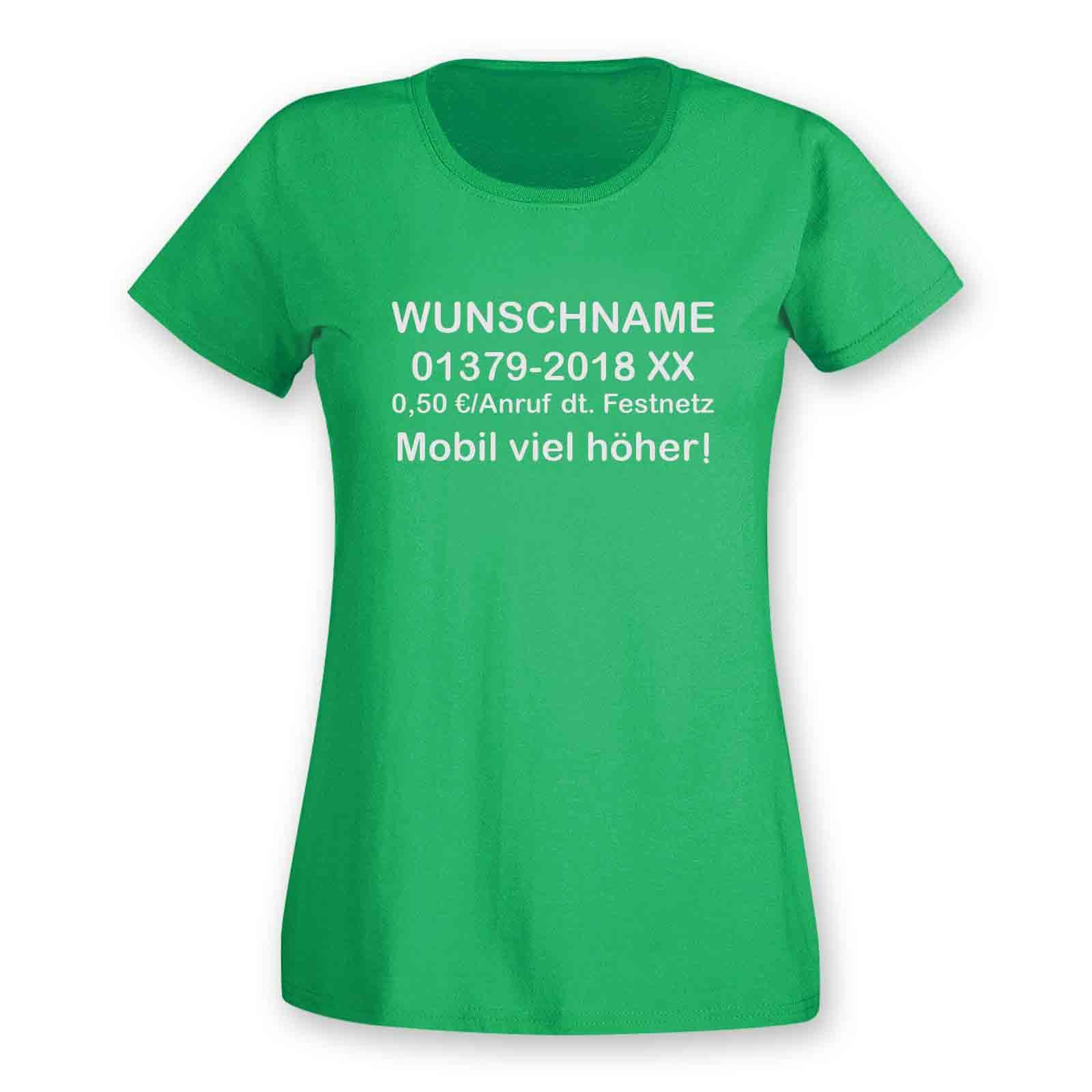 T Shirt Dschungelcamp Wunschname Telefonnummer Kostum Jga 15 Farben