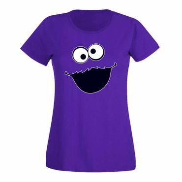 T-Shirt Krümelmonster ohne Keks Karneval Party Kostüm Sesamstraße Damen XS - 3XL – Bild 14