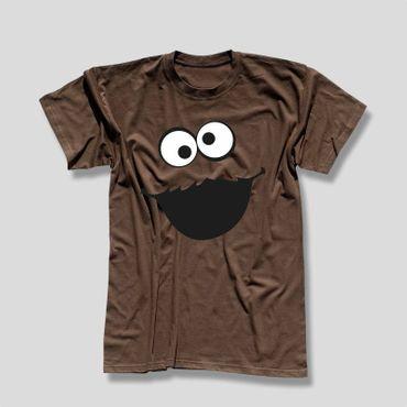 T-Shirt Krümelmonster ohne Kekse Karneval Fasching Sesamstraße Kids Men 116-5XL – Bild 8