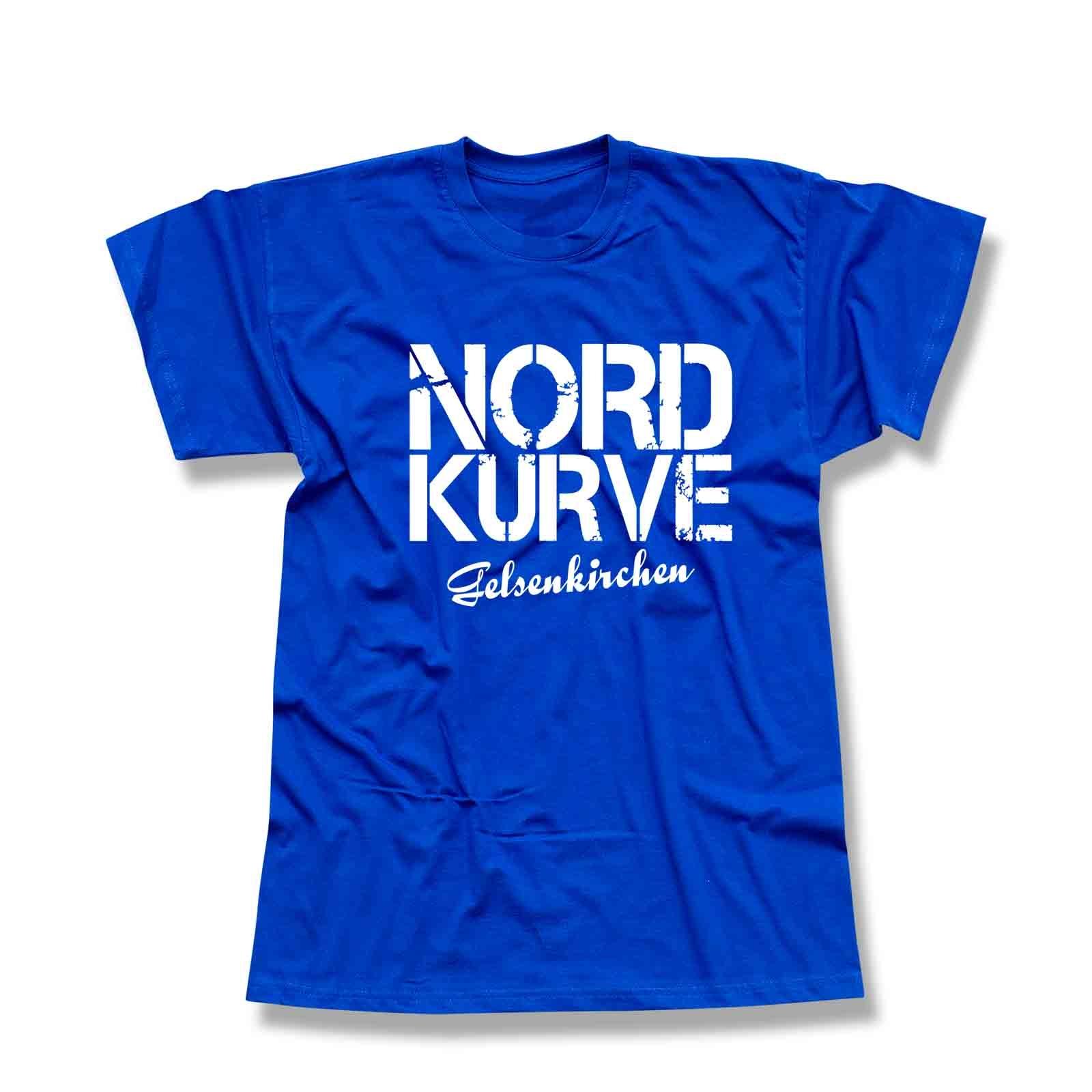 5e229b481a6edb T-Shirt Nordkurve Gelsenkirchen Ultras Fussball Buliga 13 Farben Herren XS  - 5XL