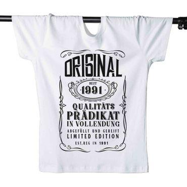 T-Shirt 29. Geburtstag Prädikat Vollendung Original 1991 29ster Herren XS - 5XL – Bild 4