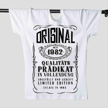T-Shirt 36. Geburtstag Prädikat Vollendung Original 1982 36ster Herren XS-5XL – Bild 2