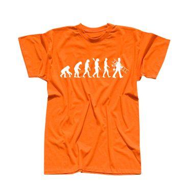 T-Shirt Evolution Schornsteinfeger Kaminkehrer Glück Ruß 13 Farben Herren XS-5XL – Bild 14