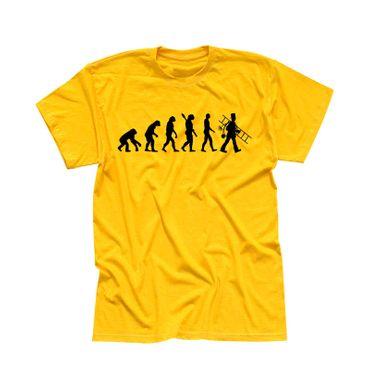 T-Shirt Evolution Schornsteinfeger Kaminkehrer Glück Ruß 13 Farben Herren XS-5XL – Bild 15