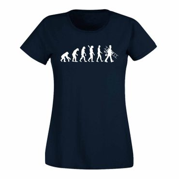T-Shirt Evolution Schornsteinfeger Kaminkehrer Glück Ruß 15 Farben Damen XS-3XL – Bild 10