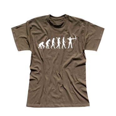 T-Shirt Evolution Bogenschütze Kyudo FITA Robin Hood 13 Farben Herren XS - 5XL – Bild 9