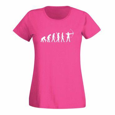 T-Shirt Evolution Bogenschütze Kyudo FITA Robin Hood 15 Farben Damen XS - 3XL