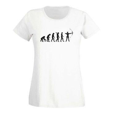 T-Shirt Evolution Bogenschütze Kyudo FITA Robin Hood 15 Farben Damen XS - 3XL – Bild 4