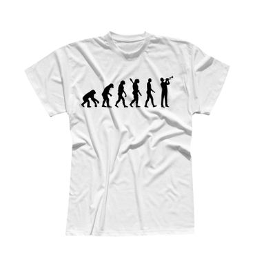 T-Shirt Evolution Trompeter Jazz Funk Big Band Musik 13 Farben Herren XS - 5XL – Bild 4