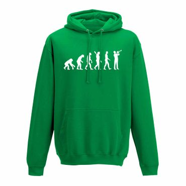 Hoodie Evolution Trompeter Jazz Funk Big Band Musik 10 Farben Herren XS - 5XL – Bild 9