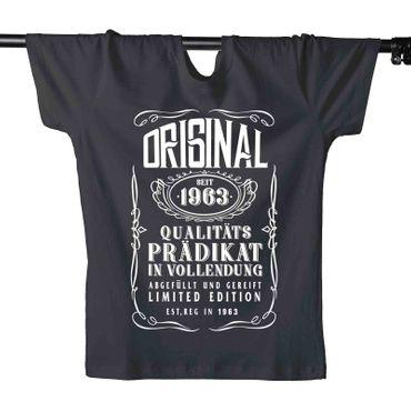 T-Shirt 56. Geburtstag Prädikat Vollendung Original 1963 56ster Herren XS - 5XL – Bild 1