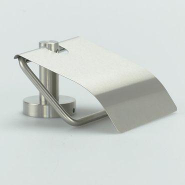 Hochwertiger WC-Papierrollenhalter mit Blattstop Wandmontage Edelstahl matt / 41.001/000 – Bild 1