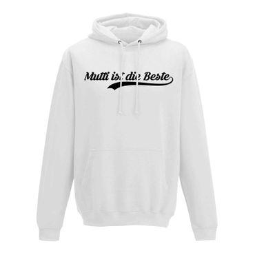 Hoodie Muttertag Spruch Mutti ist die Beste Party Geschenk Idee Herren XS - 5XL – Bild 4