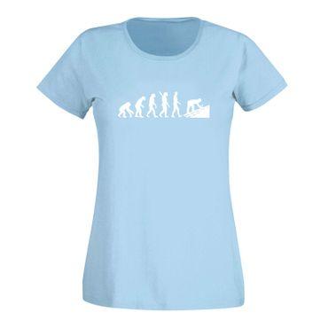 T-Shirt Evolution Dachdecker Tischler Zimmermann 15 Farben Damen XS - 3XL – Bild 13
