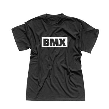 T-Shirt BMX Schriftzug Box Logo Bicycle Motocross Jumps 13 Farben Herren XS-5XL – Bild 1