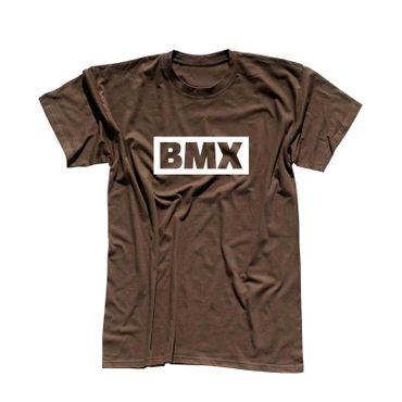 T-Shirt BMX Schriftzug Box Logo Bicycle Motocross Jumps 13 Farben Herren XS-5XL – Bild 8