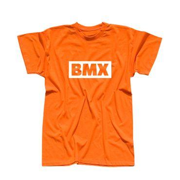 T-Shirt BMX Schriftzug Box Logo Bicycle Motocross Jumps 13 Farben Herren XS-5XL – Bild 14