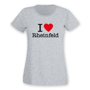 Rheinfeld T-Shirt Damen I love (Herz) Präsent Dormagen Geschenk 9 Farben XS-2XL – Bild 5