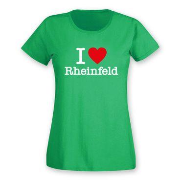 Rheinfeld T-Shirt Damen I love (Herz) Präsent Dormagen Geschenk 9 Farben XS-2XL – Bild 6