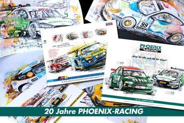 "Wandkalender ""20 Jahre Phoenix Racing - 2019"" mit Ringbindung"