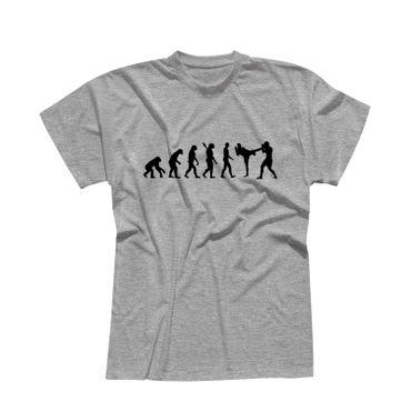 T-Shirt Evolution Kampfsport Kickboxen Karate Boxen MMA 13 Farben Herren XS-5XL – Bild 7