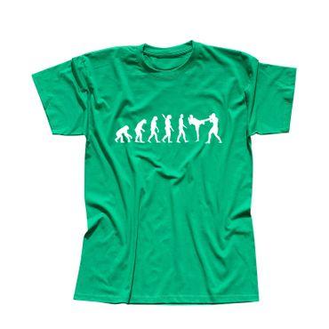 T-Shirt Evolution Kampfsport Kickboxen Karate Boxen MMA 13 Farben Herren XS-5XL – Bild 10