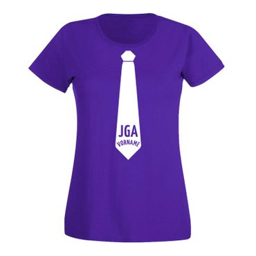 JGA Shirt Krawatte Wunschname Anzug Hochzeit Feier Party 15 Farben Damen XS-3XL – Bild 14