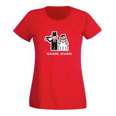 JGA Shirt Game Over Braut heiraten Hochzeit Feier 15 Farben Damen XS - 3XL – Bild 15
