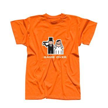 JGA Shirt Game Over Bräutigam heiraten Hochzeit Feier 10 Farben Herren XS - 5XL – Bild 11
