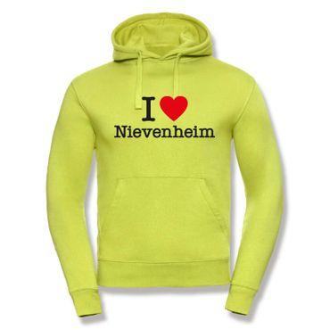Nievenheim Hoodie Herren I love (Herz) Präsent Dormagen Geschenk 9 Farben XS-3XL – Bild 9