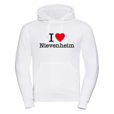 Nievenheim Hoodie Herren I love (Herz) Präsent Dormagen Geschenk 9 Farben XS-3XL – Bild 1