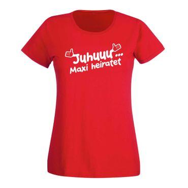 JGA Shirt Juhuu Wunschname heiratet Scheisse ich bin XXX Hochzeit Damen XS-3XL – Bild 13