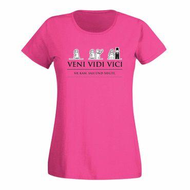 JGA Shirt Veni Vidi Vici Hochzeit Party Feier Malle Fun 15 Farben Damen XS - 3XL – Bild 1