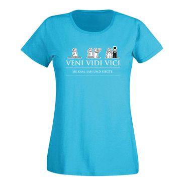 JGA Shirt Veni Vidi Vici Hochzeit Party Feier Malle Fun 15 Farben Damen XS - 3XL – Bild 12