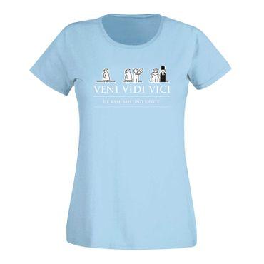JGA Shirt Veni Vidi Vici Hochzeit Party Feier Malle Fun 15 Farben Damen XS - 3XL – Bild 13