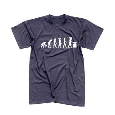 T-Shirt Evolution Schmied Hufschmied Metallbauer Eisen 13 Farben Herren XS - 5XL – Bild 6