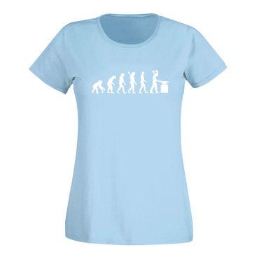 T-Shirt Evolution Schmied Hufschmied Metallbauer Eisen 15 Farben Damen XS - 3XL – Bild 13