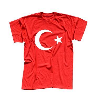 T-Shirt Türkei Türkiye Turkey Istanbul Antalya Fahne 13 Farben Herren XS - 5XL – Bild 3