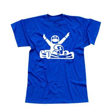 T-Shirt Kartfahrer Siegerpose Gokart Karting Rennsport 13 Farben Herren XS-5XL – Bild 12